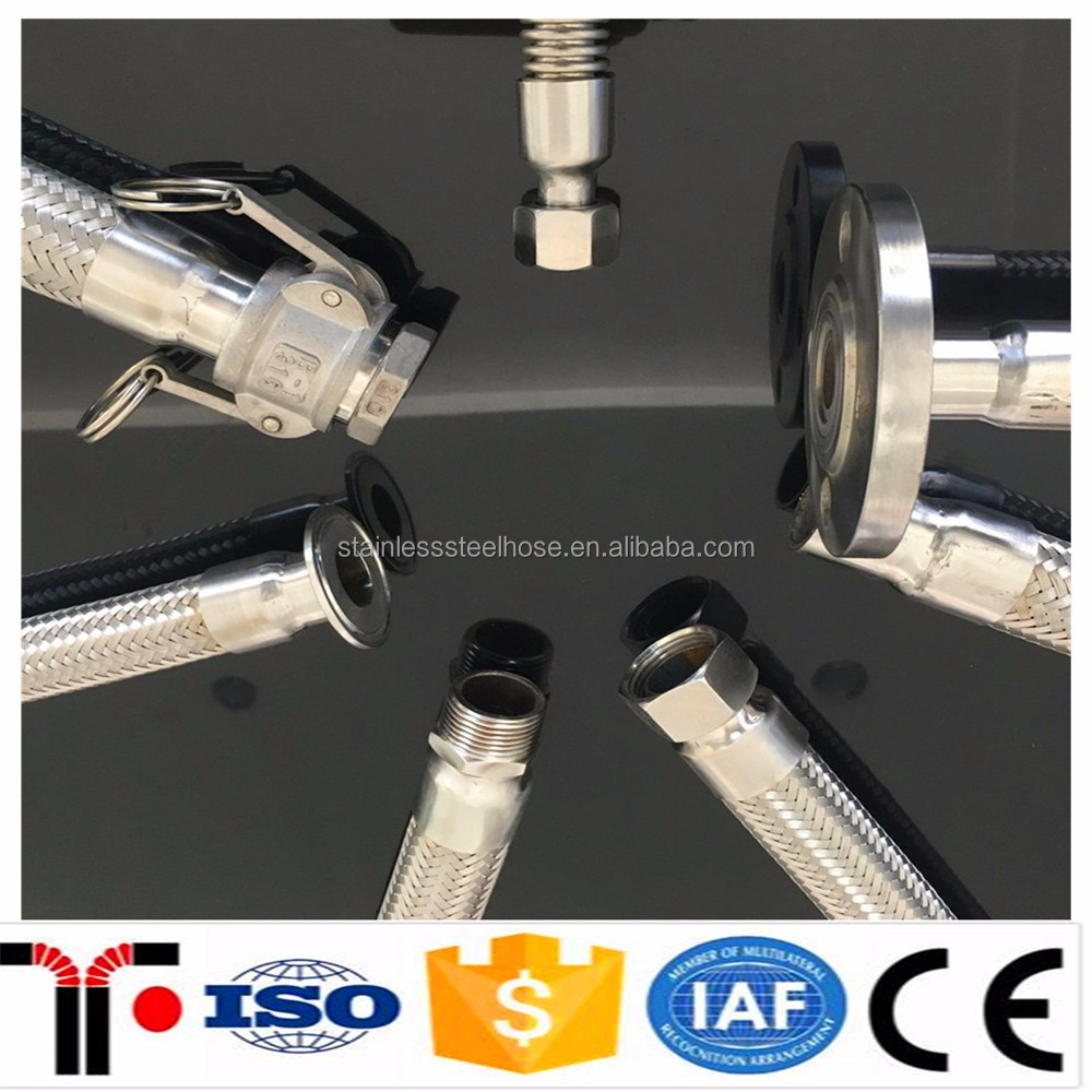 Wire Braided Stainless Steel Corrugated Flexible Gas Connection Metal Hose
