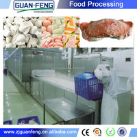 Tunnel frozen kebab machine / frozen chicken negget / industrial quick freezing equipment