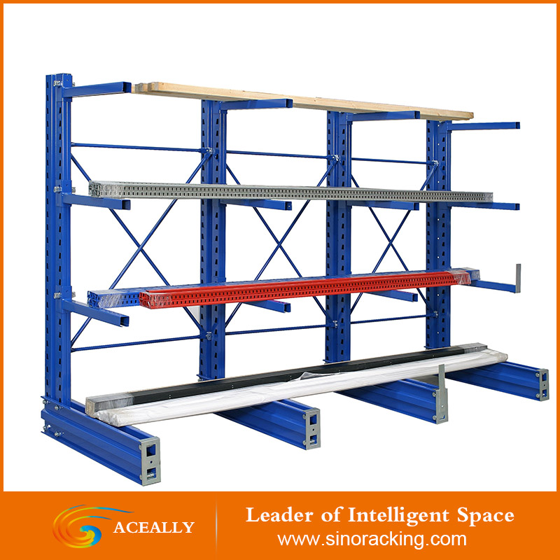 heavy duty single size cantilever racking