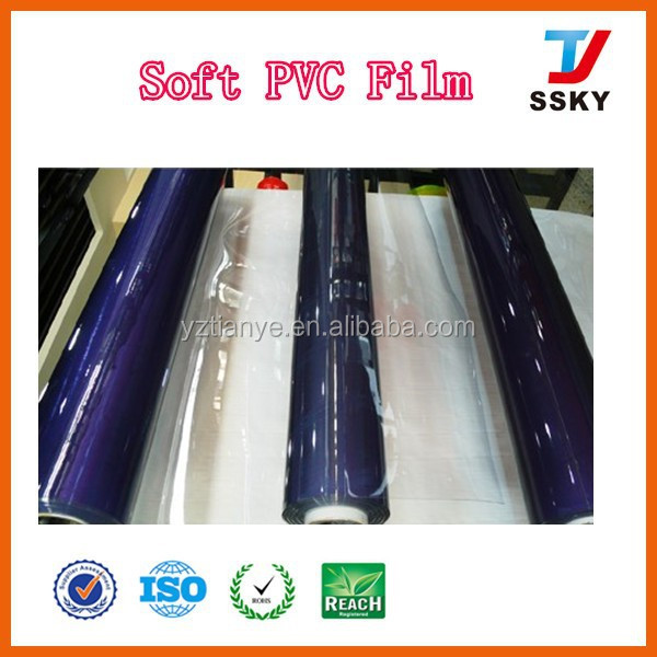 Cover film material soft PVC film in roll flexible thin plastic sheet