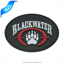 Cheap custom 2d animal shaped rubber logo pvc label