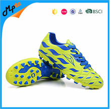 Men lawn soccer shoes PVC upper TPU outsole with studs