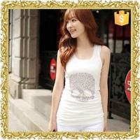 Sexy Bling Shinning Beads Women Camis Vest Singlets Summer lace tank top