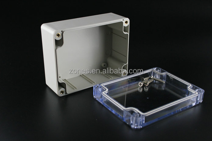 ip65 watertight transparent plastic casing abs electrical outlet box size