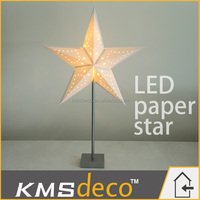 battery operate Led motif light paper star indoor christmas decoration