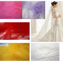 plain breathable tulle rolls glitter nylon mesh fabric for wedding dress