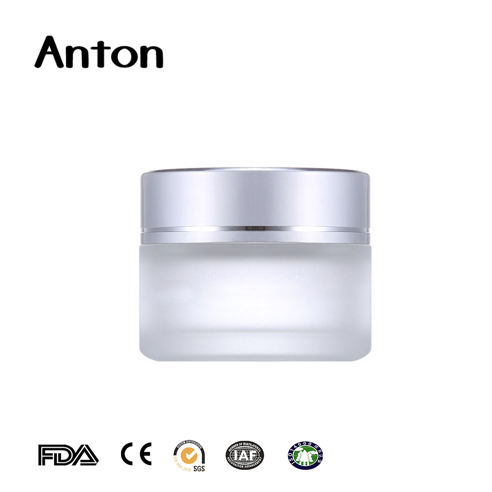 25ml round frosted glass jars cosmetic glass bottle manufacturers china