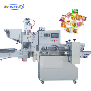 NEWEEK automatic pillow type chocolate moon cakes crackers wrapping machine