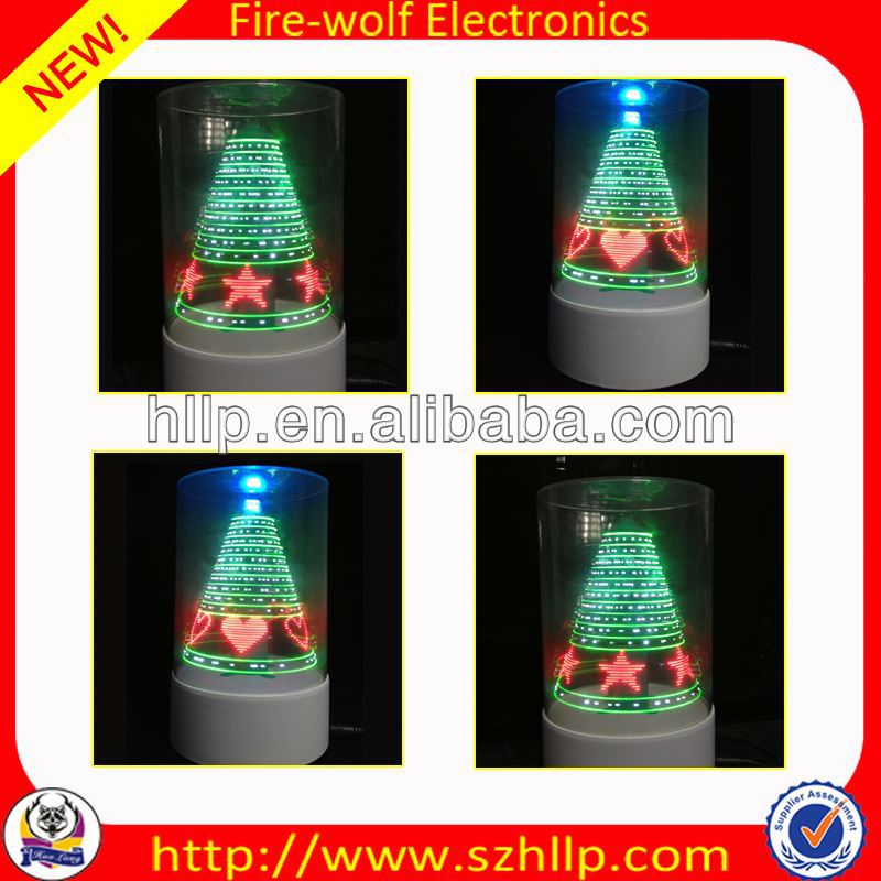2014 hot sale wholesale led 3D usb red velvet christmas tree bow manufacture