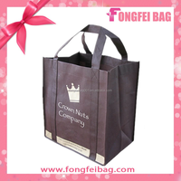 6 bottle wine promotional pp non woven folding shopping carrier bag,carry bag