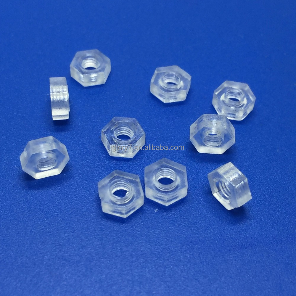 PC transparent nut , Acrylic nut , nylon plastic Hexagonal nut