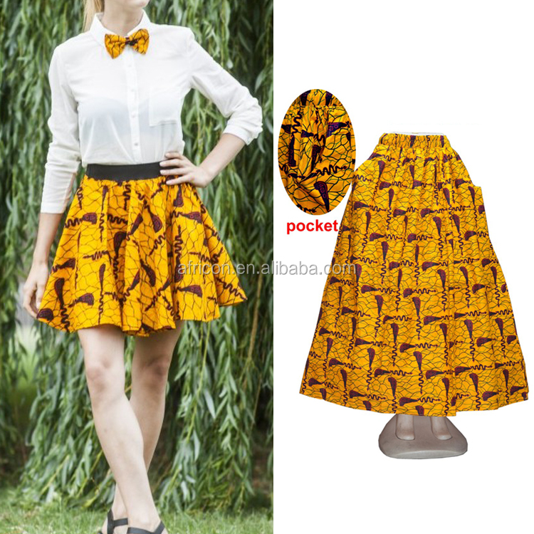 Queency In Stock Wholesale Latest Ladies Design African Wax Clothing Dashiki Skirt for sale