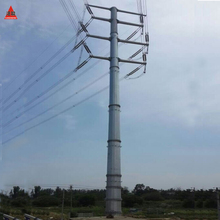 High voltage Galvanized Steel Tubular Pole for Transmission Tower