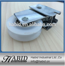 Free sample aluminium sliding window door nylon track roller and hanging sliding door wheels
