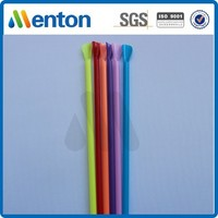 Colored ice cream spoon straw