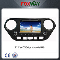 7 Inch touch screen hyundai i10 car gps navigation car stereo with cd/ dvd / mp3 player/ usb/ fm am radio
