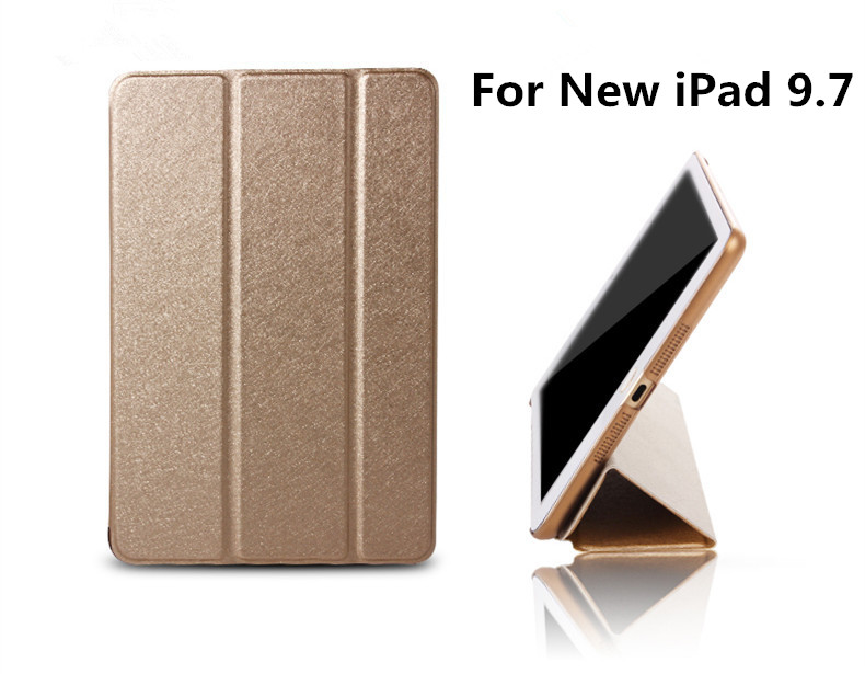 New Product Real Test Auto Sleeping Wake up Function Smart Leather Case For iPad New