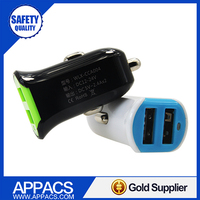High quality super fast 5v 2.4a for iphone 5 5s 6 ipad mini high speed car usb charger