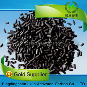 Extruded cylindrical pellets anthracite coal activated carbon with bv