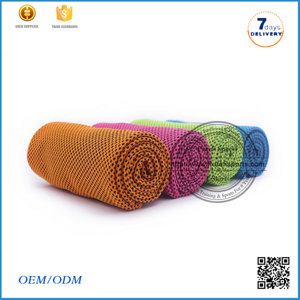 2016 Hot selling 100% cotton material custom gym towel microfiber cooling towel pva cooling towel chamois fabric
