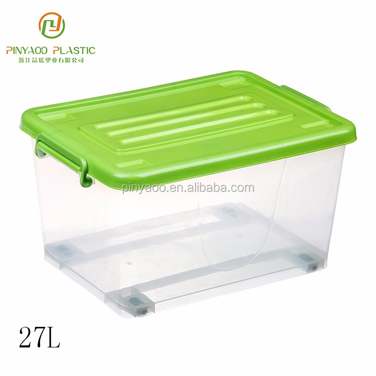 Factory direct sale various color stackable storage bins warehouse