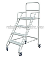 Free Standing Rolling 4 Wheels Carpet Rolling Display Rack