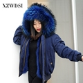 CX-G-P-19K High quality winter fashion Women fox fur lining ladies Parkas