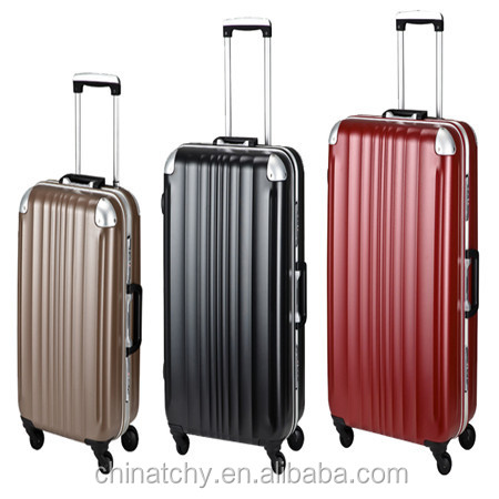 4 wheels aluminum spinner luggage trolley aluminium travel suitcase