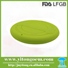 2016 latest pet toy food grade round shape silicone dog frisbee for toy or training