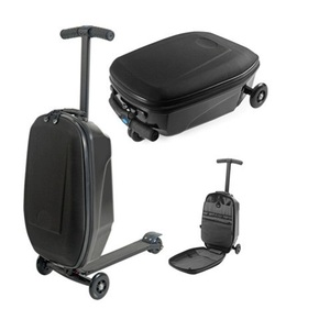 ABS Hard Shell Two Wheels Carry-on Luggage Scooter Trolley Case
