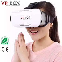 "3D Virtual Reality Headset Glasses Adjust VR BOX For 4.7~6"" IOS/ Android Cellphones + Controller"