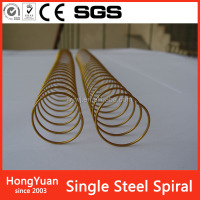 Colored Nylon Coated Binding Spiral Wire/Spiral Coil /Metal Spiral Ring Used In Notebook and Book Binding Made In China