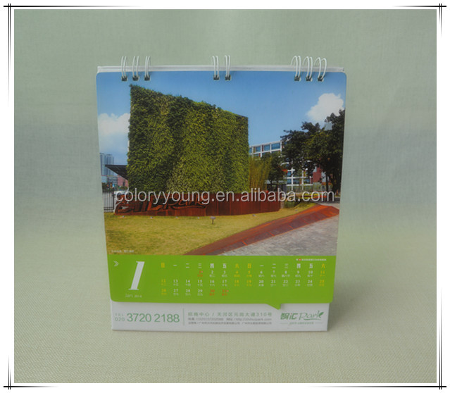 Hot sale business desk calendar table calendar custom printing OEM service