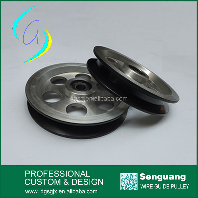 Extruding Machine Chrome Oxide Coated Water Groove Pulley With Surface Mirror Finish