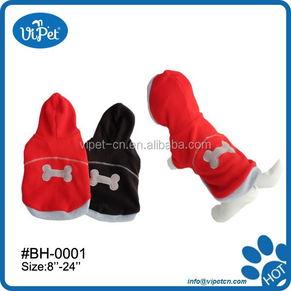 Fleece pet clothes for rabbits with hat