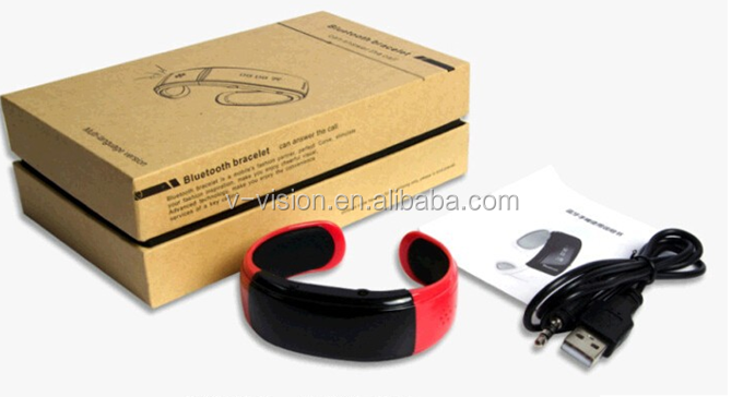 Super Bluetooth watch bracelet with caller ID/name display call vibrating alert and Answer
