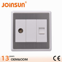 TV and Phone wall electrical socket,multiple socket outlet