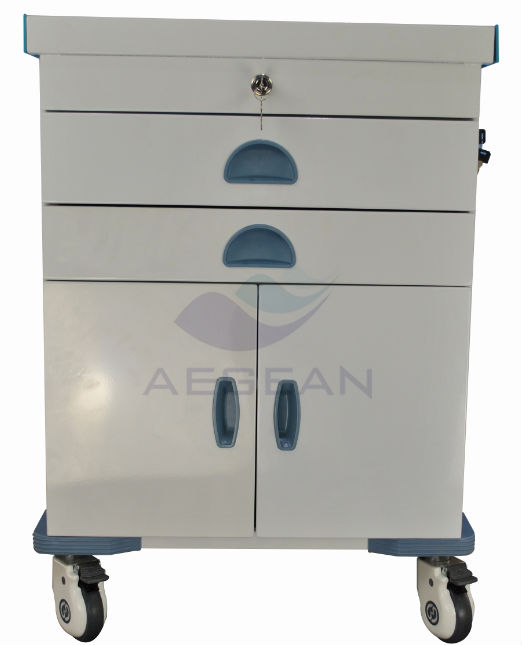 AG-ET017 Luxurious powder coating steel nursing room used doctor trolley