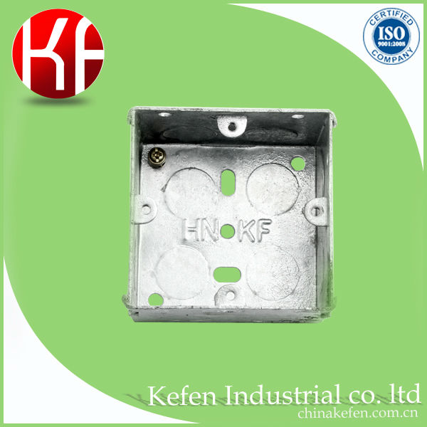 Factory price BS 4662 electrical gi switch boxes