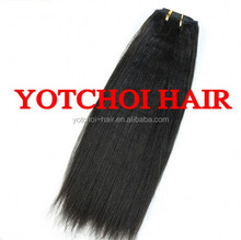 Yotchoi Hair Top Quality Can Be Permed Non-Processed Kinky Straight Yaki Hair Weave
