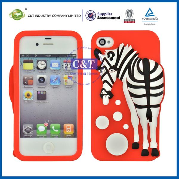 C&T cute animal shaped phone cases for iphone 4/4s