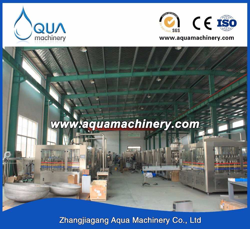 Aerated Automatic Soda Beverage Drinking Filling Line Machine