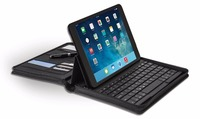 With Keyboard Pocket PU Leather Zipper Portfolio Case for Apple iPad Air 1/2