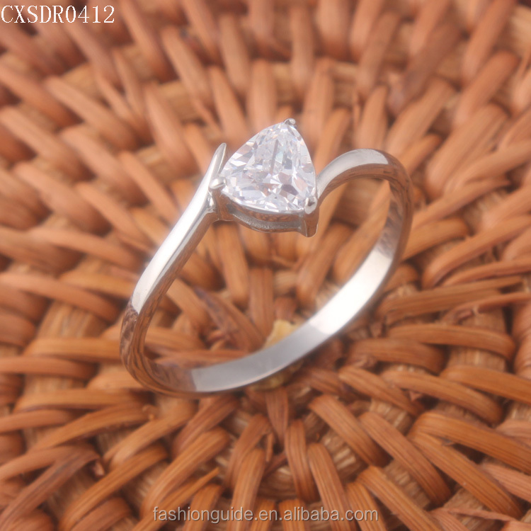 316l Stainless Steel Women CZ Ring