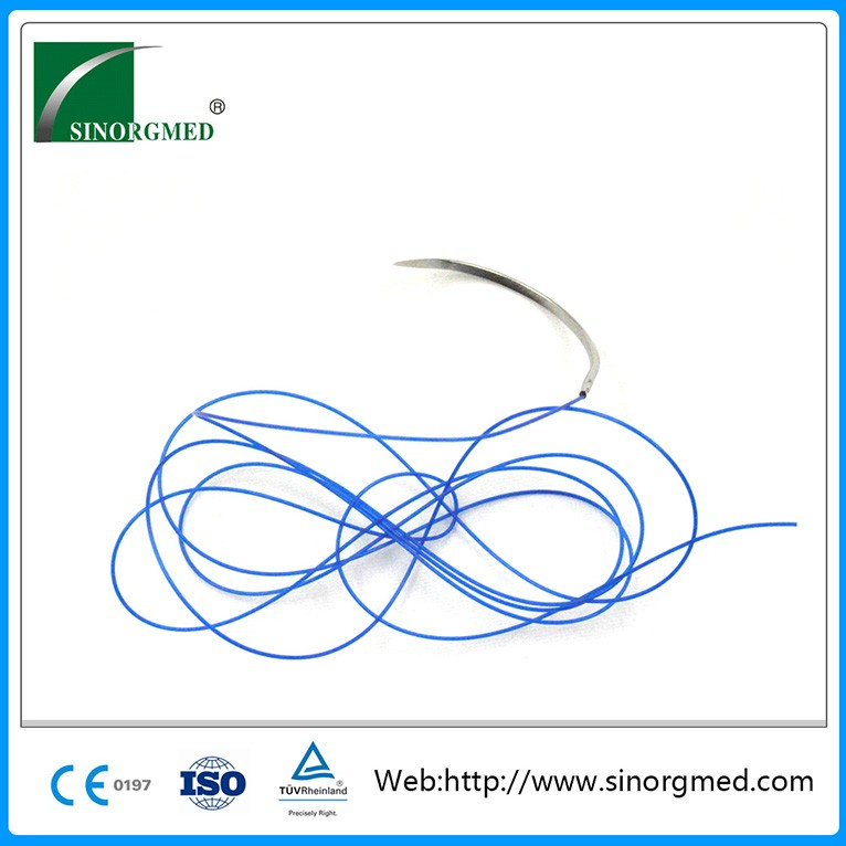 CE ISO Aprpvoed Blue Disposable Medical Non-absorbable 10-0 Nylon Sutures