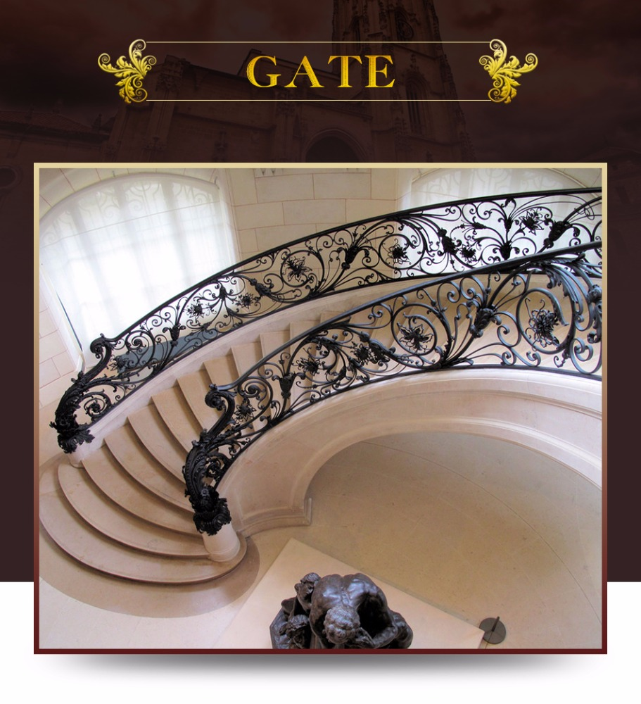 New house style stair banisters and railings with durable material