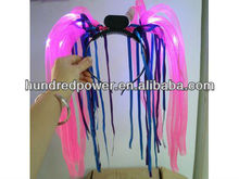2 NEW LED Flashing Light Up Tentacle/Dreadlock Colorful Hair Pieces
