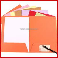 Custom Unique Design Color Paper File Folder Wholesale