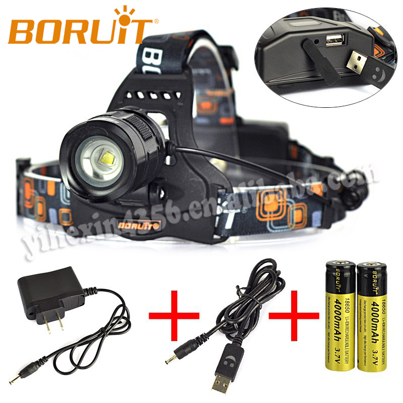 1800 Lumen Powerful Super Bright Focus Hunting LED Headlight