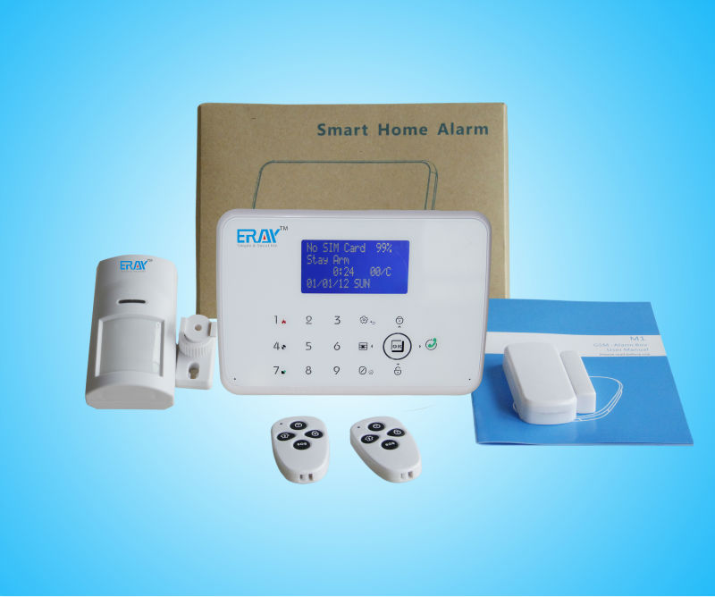 Wireless Intelligent Home Security GSM+PSTN Dual Network Intruder Alarm System